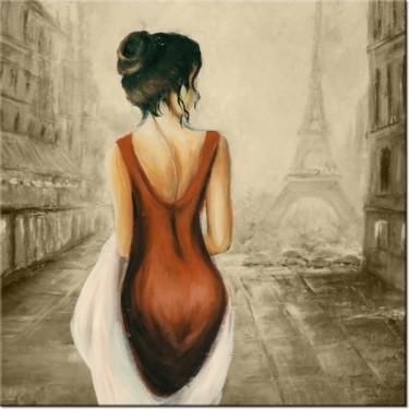 Obraz Spacer w Paryżu w sepii