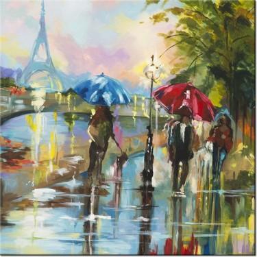 Obraz Paryż w deszczu