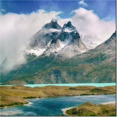 Obraz Ośnieżone szczyty