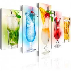 Obraz - Tęczowe drinki