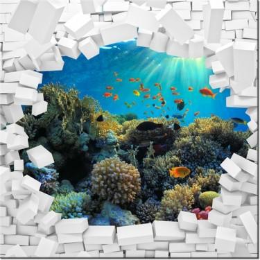 Obraz Ściana z morskim widokiem