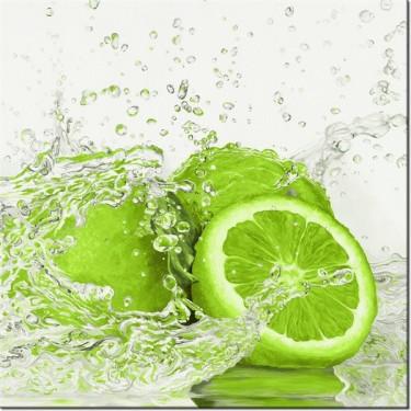 Obraz Limonka w wodzie