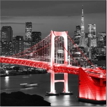 Obraz Tokyo most tęczowy w czerwieni