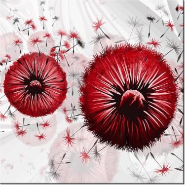 Obraz Czerwone dmuchawce 5