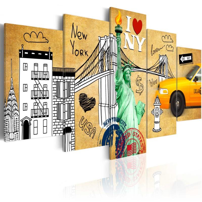 Obraz  Z miłości do Nowego Jorku
