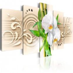 Obraz - Orchidee, babmbus i zen