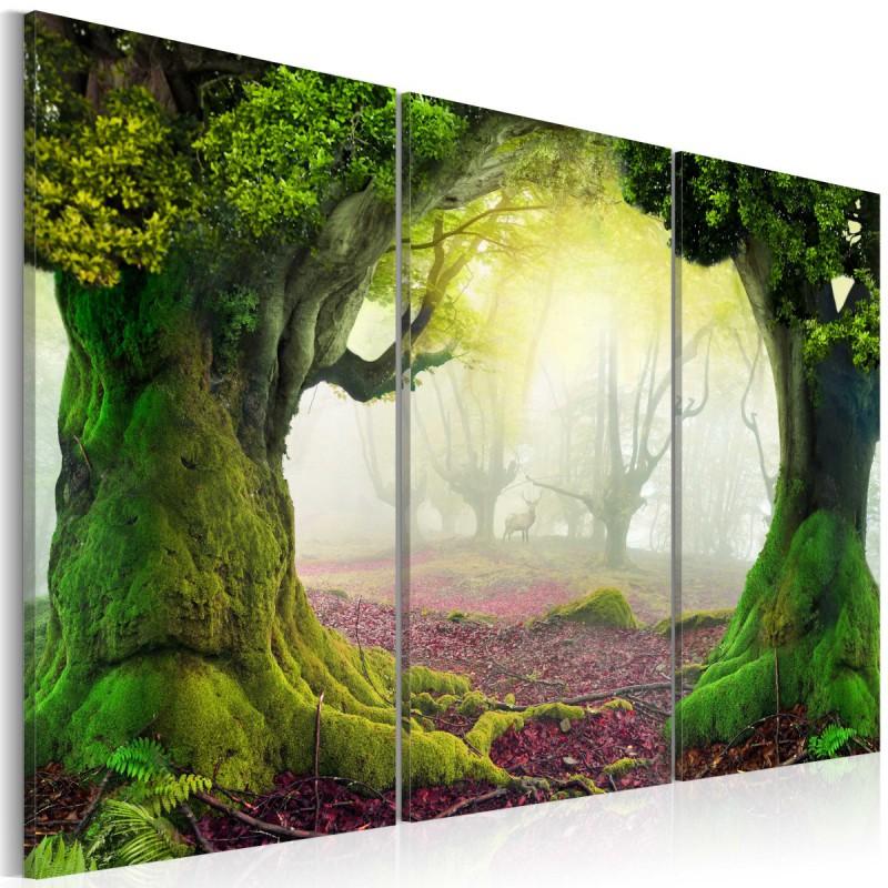 Obraz  Tajemniczy las  tryptyk