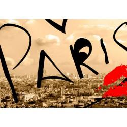 Obraz  Pocztówka z Paryża