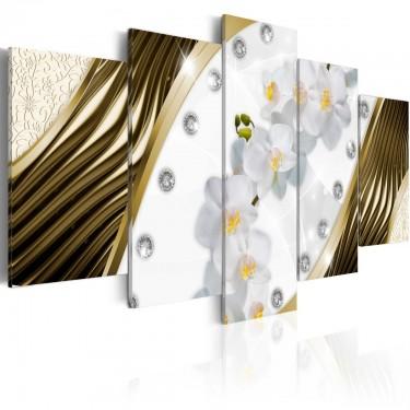 Obraz  Złote orchidee