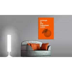 Obraz  Orange is the happiest color (Frank Sinatra)