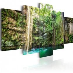Obraz  Wodospad drzew