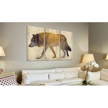 Obraz  Wędrujący wilk