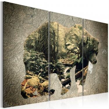 Obraz  Niedźwiedź w lesie