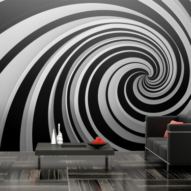 Fototapeta XXL - Black and white swirl