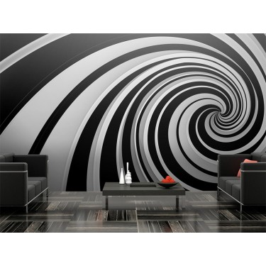 Fototapeta  Black and white swirl