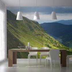 Fototapeta Green mountain landscape