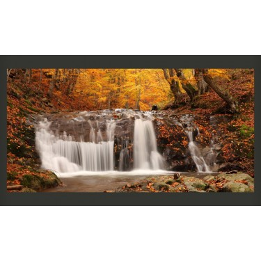 Fototapeta  Autumn landscape waterfall in forest