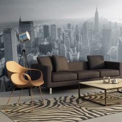 Fototapeta Czarnobiała panorama Nowego Jorku