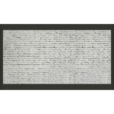 Fototapeta  Ściana z białej surowej cegły