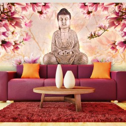 Fototapeta Budda i magnolia