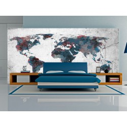 Fototapeta  World map on the wall