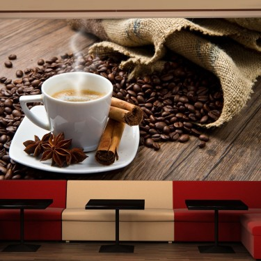 Fototapeta  Star anise coffee