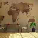 Fototapeta Herbaciana mapa świata