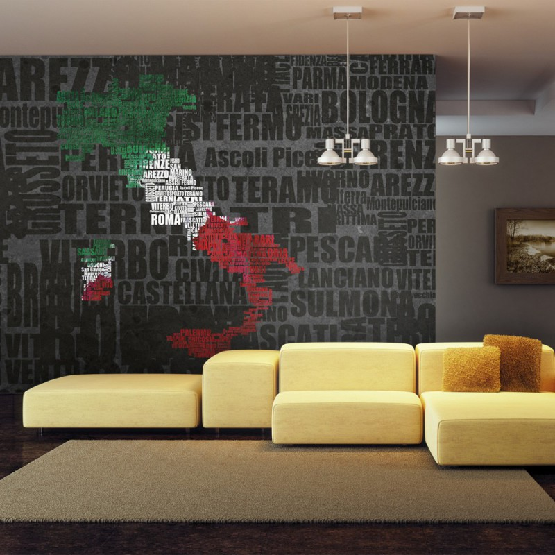 Fototapeta  Text map of Italy