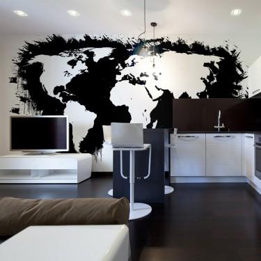 Fototapeta  Białe kontynenty, czarne oceany...