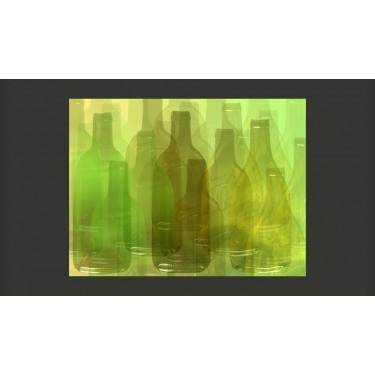 Fototapeta  Zielone butelki