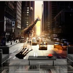 Fototapeta - Żyrafa w wielkim mieście