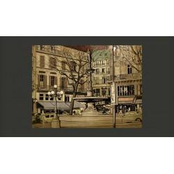 Fototapeta  Parisian fountain