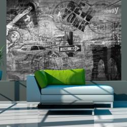 Fototapeta - Nowy Jork, czarno-biały, kolaż