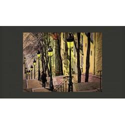 Fototapeta  Lonely walk through Montmartre