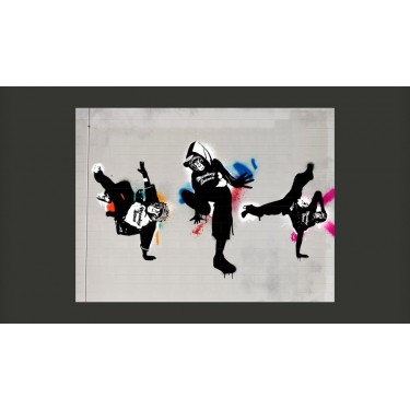 Fototapeta  Monkey dance  street art