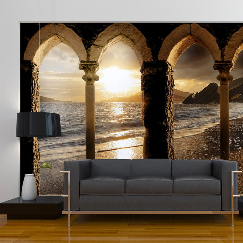 Fototapeta Zamek na plaży