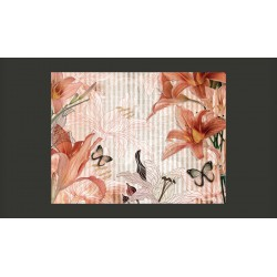 Fototapeta  Kwiaty i motyle