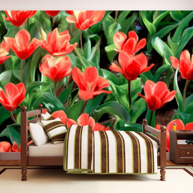 Fototapeta  Painted flowers