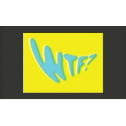 Fototapeta  WTF? in skyblue color