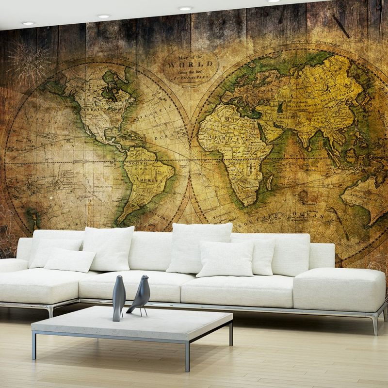 fototapeta mapa starego świata