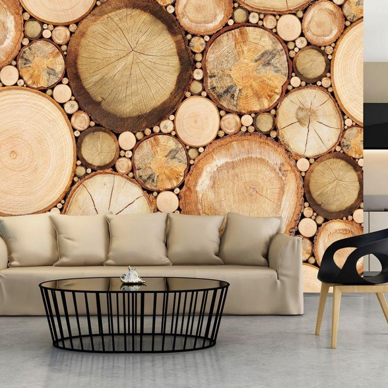 tapety drewno